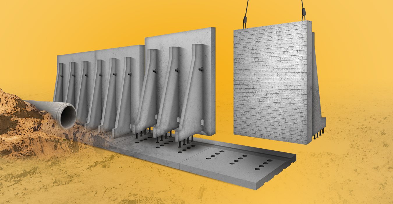 Counterfort wall system